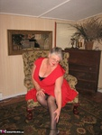 GirdleGoddess. Red Hot In Red Dress Free Pic 6