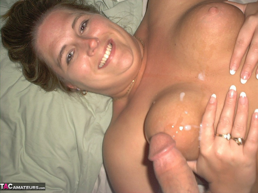 Real Homemade Cum On Her Tits