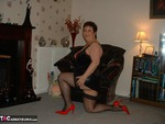 KinkyCarol. Black & Red Free Pic