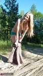 Evelina. Stripping Outdoors Free Pic 5