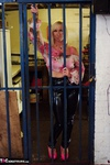 Melody. PVC Trousers In The Cage Free Pic 2