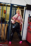 Melody. PVC Trousers In The Cage Free Pic