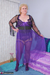 Fanny. Purple Nylon Gown Free Pic 1