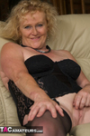 ClaireKnight. Black Lingerie Free Pic 11