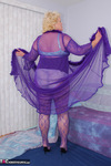 Fanny. Purple Body Stocking Free Pic 2