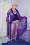 Fanny. Purple Body Stocking Free Pic 3