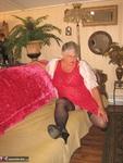 Girdle Goddess. Sexy Red Dress Free Pic 3
