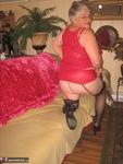 Girdle Goddess. Sexy Red Dress Free Pic 9