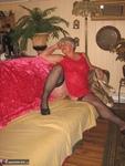 Girdle Goddess. Sexy Red Dress Free Pic 11