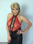 Dimonty. Red Fishnet Free Pic 1