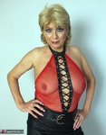 Dimonty. Red Fishnet Free Pic 4