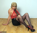 Dimonty. Red Fishnet Free Pic 11