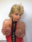 Dimonty. Red Fishnet Free Pic 19
