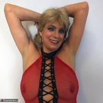 Dimonty. Red Fishnet Pt2 Free Pic 3