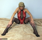 Dimonty. Red Fishnet Pt2 Free Pic 7