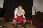 LexieCummings. Tartan Skirt Strip Free Pic 4