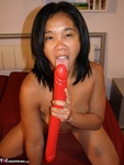 AsianDeepthroat. Melissa fucks her double ended dildo Free Pic
