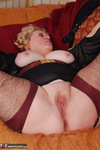 Fanny. Brown Lacy Stockings Free Pic 19