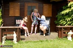 ClaireKnight. Summer House Strip Free Pic 1