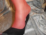 Caro. Cum On My Shiny Red Pantyhose Free Pic 2
