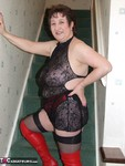 KinkyCarol. Red Thigh Boots & Stockings Free Pic 4