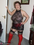 KinkyCarol. Red Thigh Boots & Stockings Free Pic