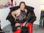 KinkyCarol. Red Thigh Boots & Stockings Free Pic 8