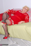 Fanny. Red Top & Nylons Free Pic 4