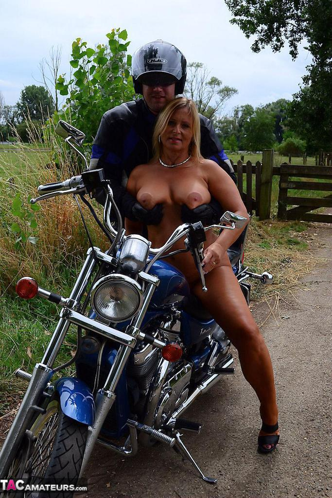 Nude women on motorcycles