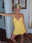JoleneDevil. Chequered panties and little yellow dress Free Pic 1