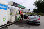 Nude Chrissy. Sexy At The Petrol Station Free Pic 15
