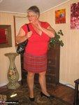 Girdle Goddess. Big Red Dildo Free Pic 4