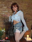 Georgie. White Fishnet Stockings Striptease Free Pic 2