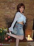 . White Fishnet Stockings Striptease Free Pic 3