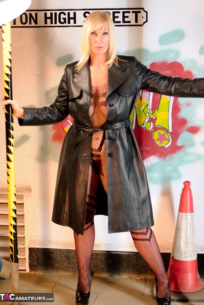 Sclerosis facial milf in long leather coat anna