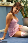 Georgie. White Stockings Striptease in the conservatory Free Pic 2