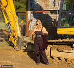 Nude Chrissy. The Excavator Free Pic 2