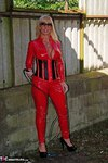 Melody. PVC Cat Suit & Whip Free Pic 12