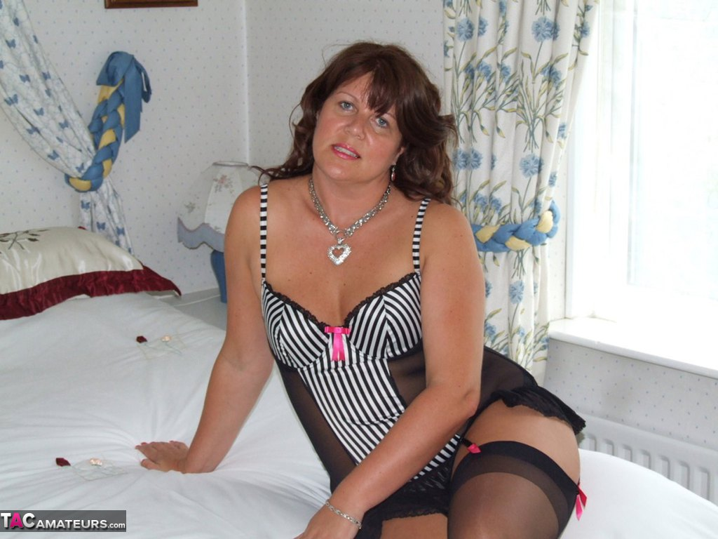 Sheer black stockings and a huge dildo Free Pic 2 ...