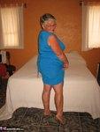 Girdle Goddess. Sexy Blue Dress Free Pic 2