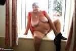 Grandma Libby. Tight Red PVC Free Pic 13