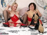 Sandy. Lesbo Fun On The Bed Free Pic 13