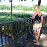 Nude Chrissy. Naked Bicycle Trip Free Pic 15