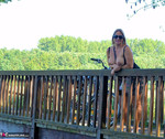 Nude Chrissy. Naked Bicycle Trip Free Pic 18