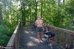 Nude Chrissy. Naked Bicycle Trip Free Pic 20