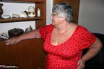 Grandma Libby. Bright Red Dress Free Pic 3