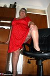 GrandmaLibby. Bright Red Dress Free Pic 4