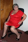 GrandmaLibby. Bright Red Dress Free Pic 5