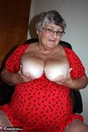 Grandma Libby. Bright Red Dress Free Pic 6