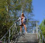 NudeChrissy. On The Stairs To Heaven Free Pic 18
